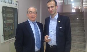 دکتر عبدالحسینی و پروفسور قوامی (استاد جراحی درون بین دانشگاه سوئیس ) - MISTIC 2014